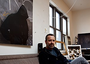 Dan Witz in studio