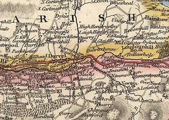 Darvel - 1832 map of Darvel, by John Thomson (1777—1840)