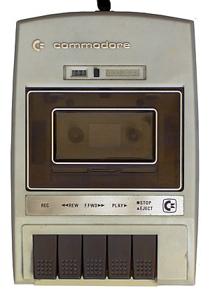 Commodore Datasette - The C2N Cassette Unit, the original Datasette model shape.