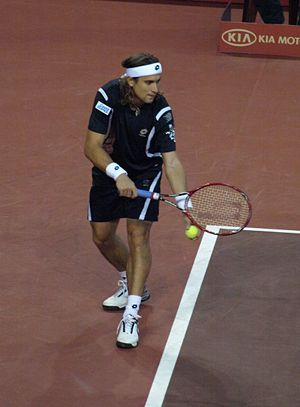 David Ferrer - David Ferrer serving during 2007 Basel