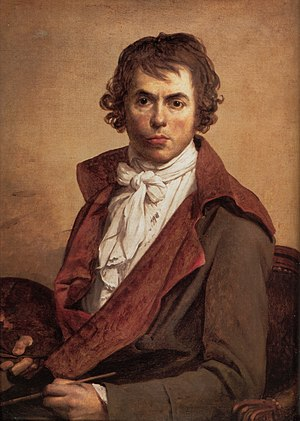 Muscadin - The Jacobin Jacques-Louis David; self-portrait in jail in 1794