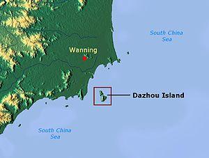 Dazhou Island - Image: Dazhou Island map 01