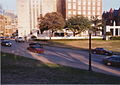 Dealey Plaza View from Behind Grassy Knoll Picket Fence.jpg