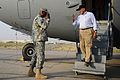 Defense.gov News Photo 110710-F-RG147-1107 - Secretary of Defense Leon E. Panetta is saluted by Commander of United States Forces-Iraq Gen. Lloyd J. Austin III as he arrives in Baghdad Iraq.jpg