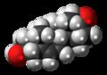 Dehydroepiandrosterone molecule spacefill.png