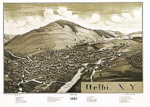 Delhi, New York - Delhi in 1887