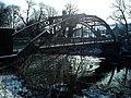 Denton Bridge against the winter sun - geograph.org.uk - 1721686.jpg