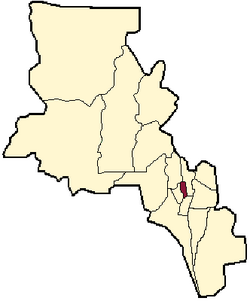 location of Fray Mamerto Esquiú Department in Catamarca Province