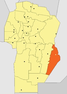 Location of Marcos Juárez Department in Córdoba Province