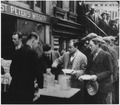 Depression, Breadlines-long line of people waiting to be fed, New York City, in the absence of substantial government... - NARA - 195524.tif