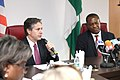 Deputy Secretary Blinken and Nigerian Foreign Minister Onyeama Address Reporters During Their Meeting in Abuja (26389656284).jpg
