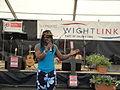 Derek Sandy performing at Yarmouth Old Gaffers Festival 2012.JPG
