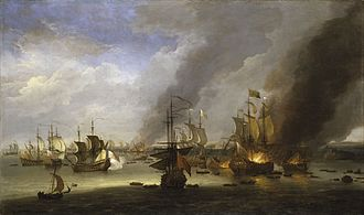 Action at Cherbourg (1692) - Destruction of the French flagship Soleil Royal