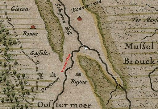 Detail kaart Drenthe 1634