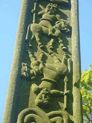 William Slater Calverley - Some of the decorations on the Replica Gosforth Cross 2
