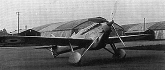 Dewoitine D.500 - A Dewoitine 510 at Martlesham Down (UK) in October 1936