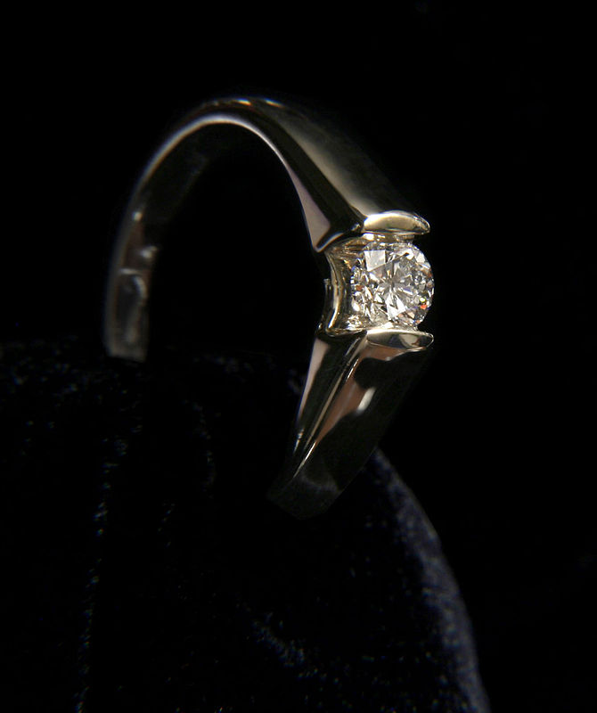 Clean Platinum Diamond Ring