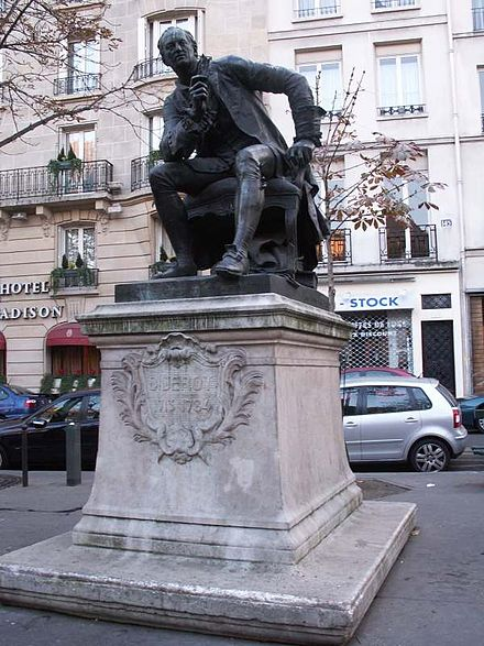 Monument to Denis Diderot in Paris, 6th arrondissement, by Jean Gautherin Diderot-statue.jpg