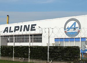 Alpine (automobile) - Alpine factory, Dieppe