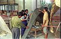 Diplodocus in Making - Dinosaurs Alive Exhibition - NCSM - Calcutta 1995 448.JPG