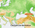 Distribution map Campanula sarmatica.png