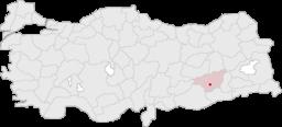 Byens og provinsens beliggenhed i Turkiet.