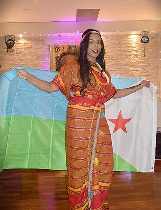 Flag of Djibouti - Djiboutian independence day celebrations with the flag of Djibouti.