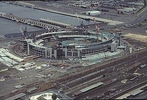 Docklands Stadium - Docklands Stadium is seen here under construction (Christmas 1998)