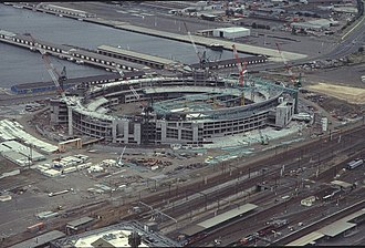 Docklands Stadium - Docklands Stadium under construction in December 1998