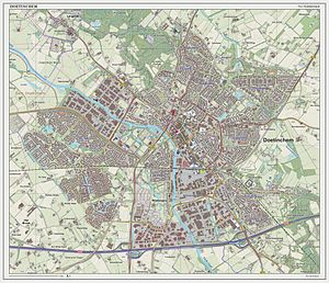 Doetinchem - Dutch Topographic map of Doetinchem, March 2014