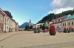 Dolný Kubín, main square.jpg