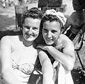 Double portrait, women, bathing suit Fortepan 2808.jpg