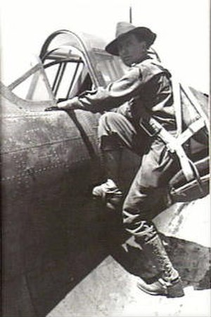 Ivan Dougherty - Dougherty boards an aircraft to undertake a tactical reconnaissance.