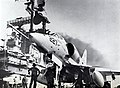 Douglas A-4E Skyhawk of VA-212 aboard USS Hancock (CVA-19), circa in 1966.jpg