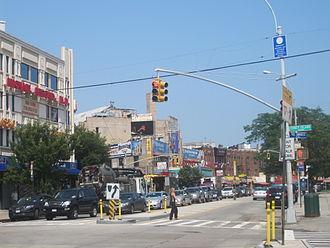 Brighton Beach - Looking east along Brighton Beach Avenue from the corner of Coney Island Avenue