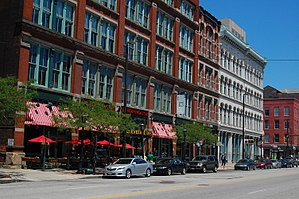 Downtown Cleveland - St. Clair Avenue in the Historic Warehouse District