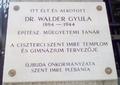 Dr. Wälder Gyula emléktáblája, Budapest, XI., Himfy utca 9..png