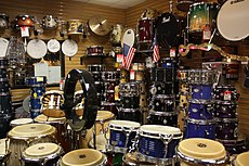 Drum shop DC, 2009-12-31.jpg