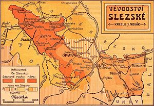 Horní Suchá - Nationalities in Silesia in 1912