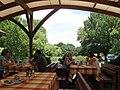 Dunabogdányi Forgó étterem, háttérben a Szentendrei-Duna.jpg