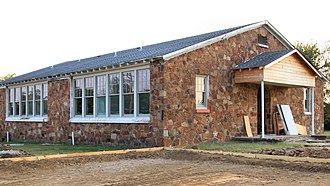 National Register of Historic Places listings in Atoka County, Oklahoma - Image: Dunbar School Atoka Oklahoma 2017