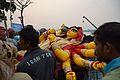 Durga Idol Immersion Procession - Baja Kadamtala Ghat - Kolkata 2015-10-22 6581.JPG
