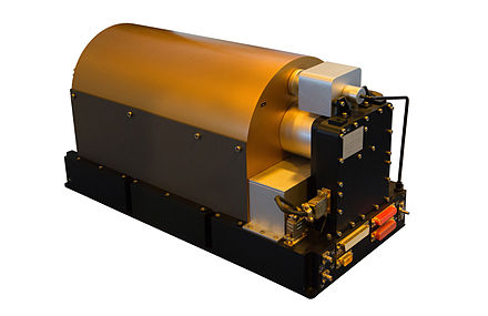 Space Passive Hydrogen Maser used in ESA Galileo satellites as a master clock for an onboard timing system ESA Galileo Passive Hydrogen Maser.jpg