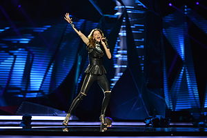 Slovenia in the Eurovision Song Contest 2013 - Hannah at the first semi-final dress rehearsal in Malmö.