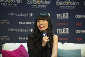 Australia in the Eurovision Song Contest 2016 - Dami Im during a press meet and greet