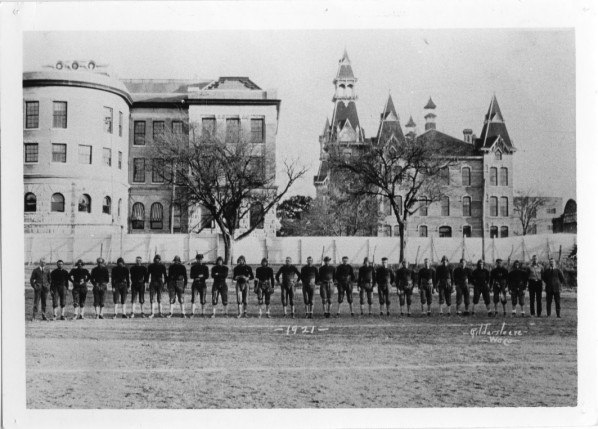 Early campus football field date 1915