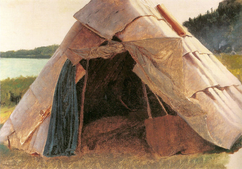 Eastman Johnson - Ojibwe Wigwam at Grand Portage - ebj - fig 22 pg 41.jpg