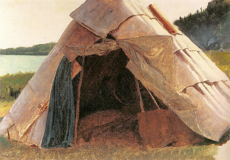 Eastman Johnson - Ojibwe Wigwam at Grand Portage - ebj - fig 22 pg 41