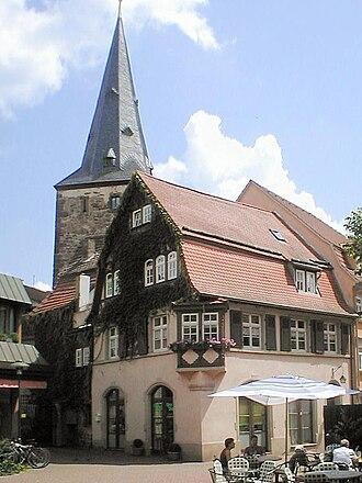 Eberbach (Baden) - Haspelturm und Spohrsches Haus