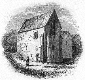 Ecclesfield Priory - Ecclesfield Priory before the alterations of 1866; the adjoining Hall is not shown.